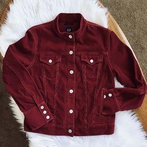🆕GAP Stretch Burgundy Corduroy Jacket